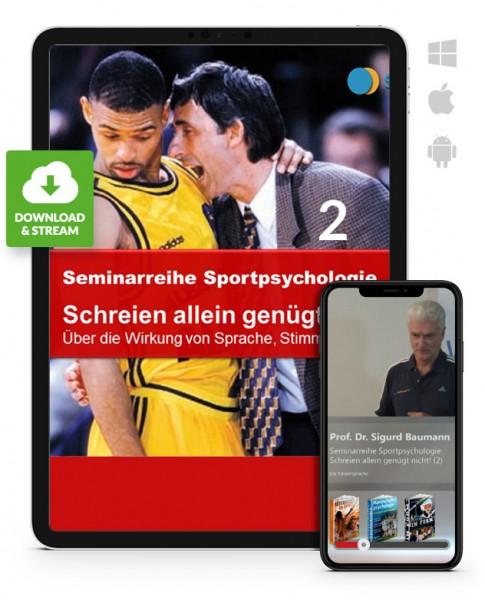 Sportpsychologie 5 - Schreien alleine genügt nicht - 2 (Download)