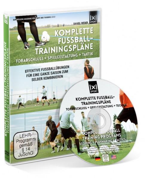 Komplette Fußball - Trainingspläne / Torabschluss + Spielgestaltung + Taktik (DVD)