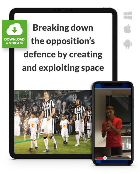 Creating and exploting space (3-5-2 against 4-4-2 / 4-2-3-1) (Download)