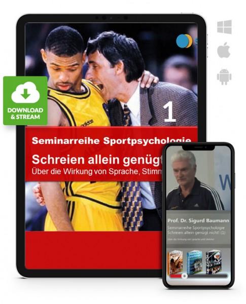 Sportpsychologie 4 - Schreien alleine genügt nicht - 1 (Download)
