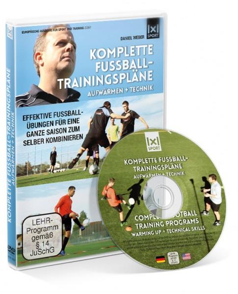 Komplette Fußball - Trainingspläne / Aufwärmen + Technik (DVD)