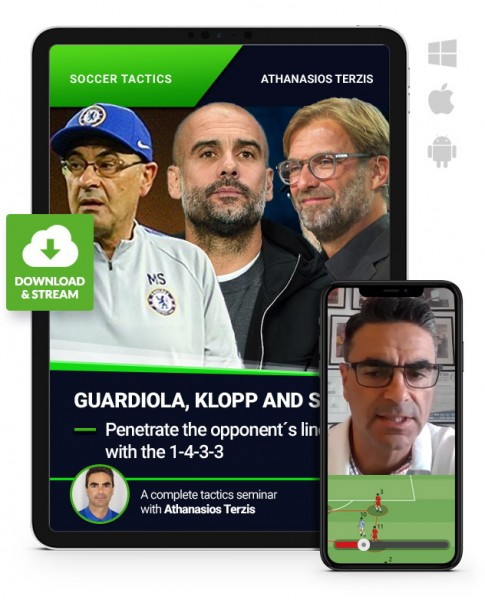 Guardiola, Klopp and Sarri - Penetrate the opponent´s lines with the 1-4-3-3 (Download)