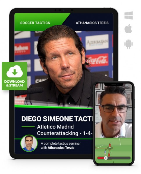 Diego Simeone Tactics - Atletico Madrid- Counterattacking - 4-4-2 (Download)