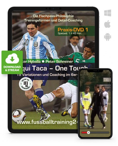 Tiqui Taca - One Touch - 19 Variationen und Coaching im 6er-Gitter (Download)